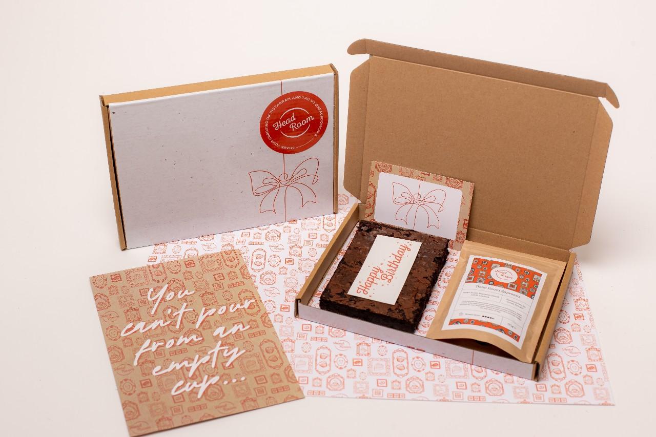 Head Room Happy Birthday Letterbox Coffee Brownie