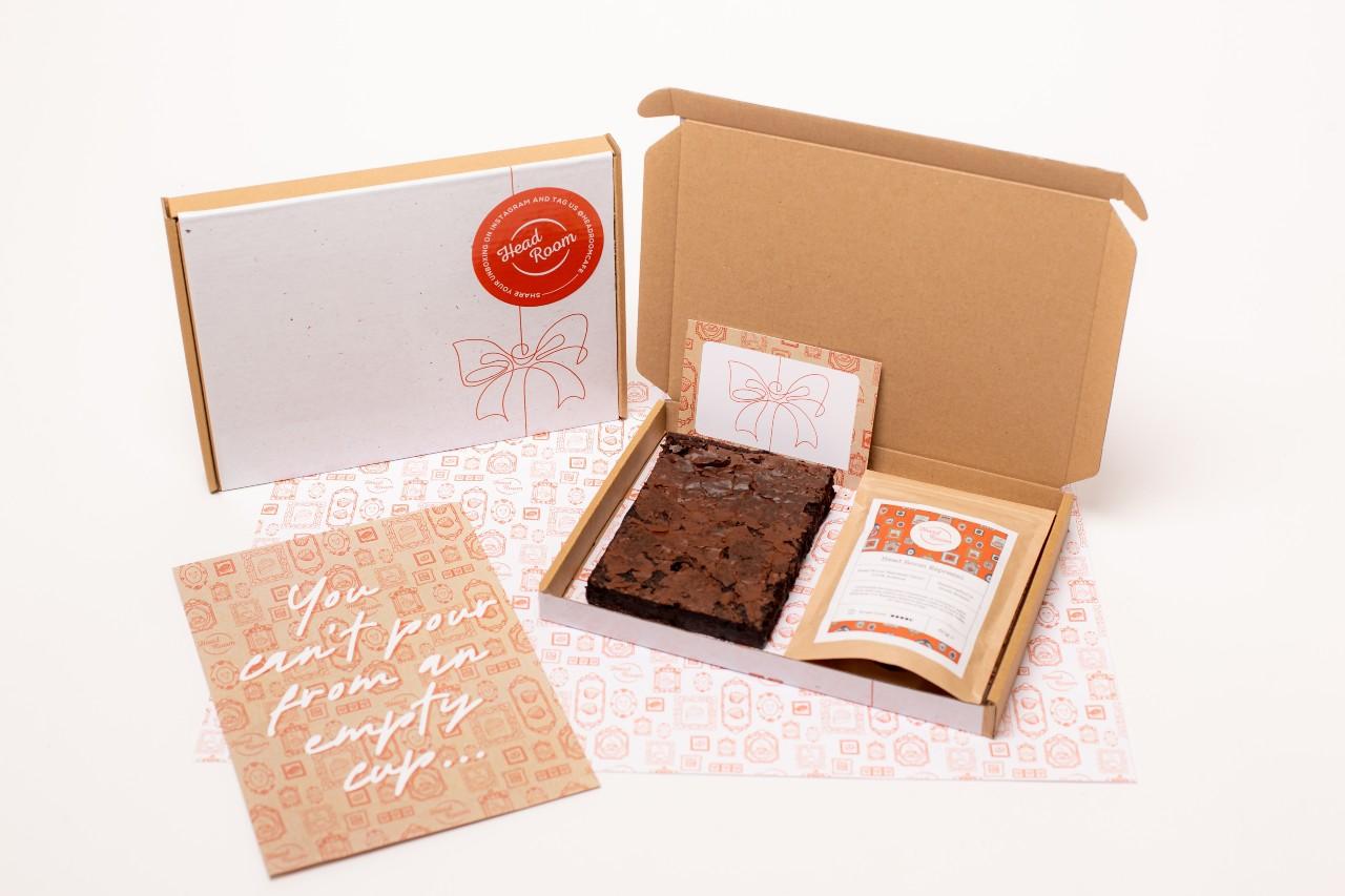 Head Room Café Coffee Brownie Box